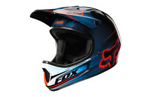 Fox Rampage Helm blue/red
